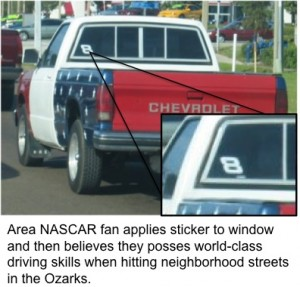 Nascar Sticker