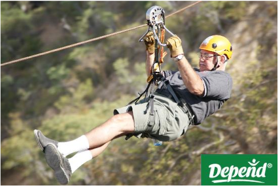 ... feet above the ground will be given a free pair of Depend Adult Diapers.