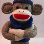 One pissed sock monkey
